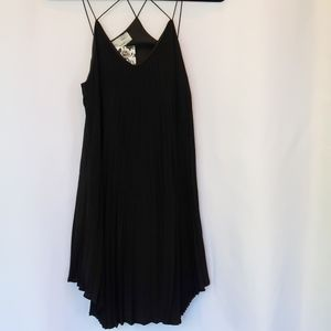 Audrey 3+1 LBD Pleated Strappy Dress NWT